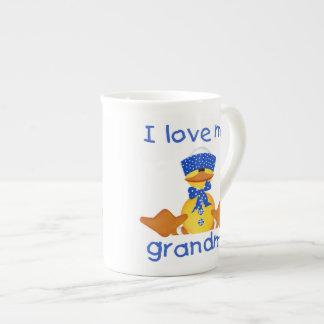 I love my grandma (boy ducky) tea cup