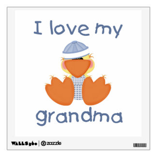 I love my grandma (boy ducky) wall decal