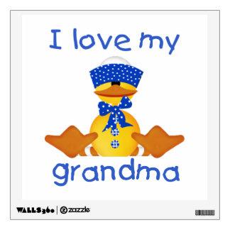 I love my grandma (boy ducky) wall sticker