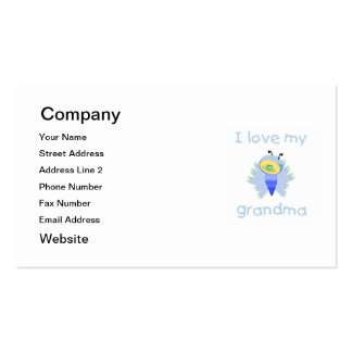 I love my grandma (boy flutterby) Double-Sided standard business cards (Pack of 100)