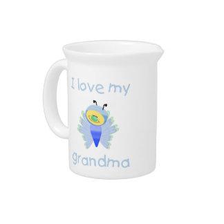 I love my grandma (boy flutterby) pitcher