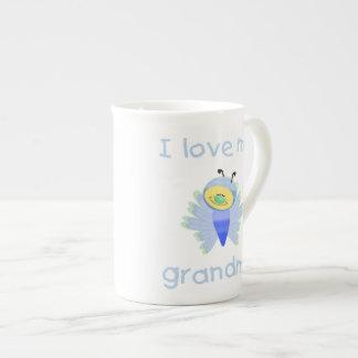 I love my grandma (boy flutterby) tea cup