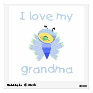 I love my grandma (boy flutterby) wall decal