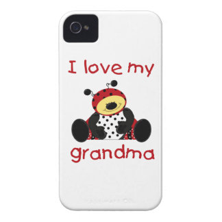I love my grandma (boy ladybug) iPhone 4 Case-Mate case