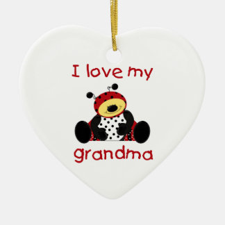 I love my grandma (boy ladybug) ceramic ornament