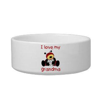I love my grandma (boy ladybug) cat food bowl