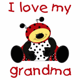 I love my grandma (boy ladybug) photo cutout