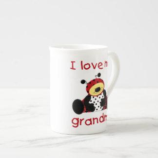 I love my grandma (boy ladybug) tea cup