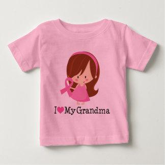 I Love My Grandma Breast Cancer Ribbon Baby T-Shirt