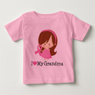 I Love My Grandma Breast Cancer Ribbon Shirt