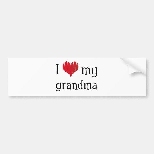 I love my grandma bumper sticker