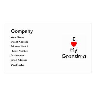 I love my grandma business card