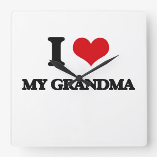 I Love My Grandma Square Wallclock