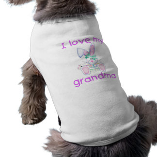 I love my grandma (girl bunny) doggie tee