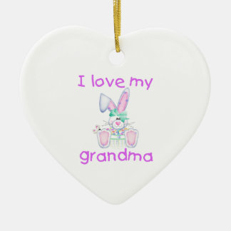 I love my grandma (girl bunny) christmas tree ornament