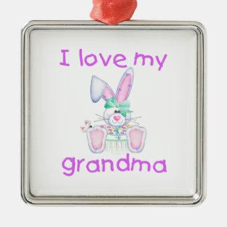 I love my grandma (girl bunny) ornament