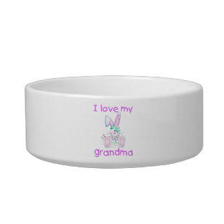 I love my grandma (girl bunny) cat bowl