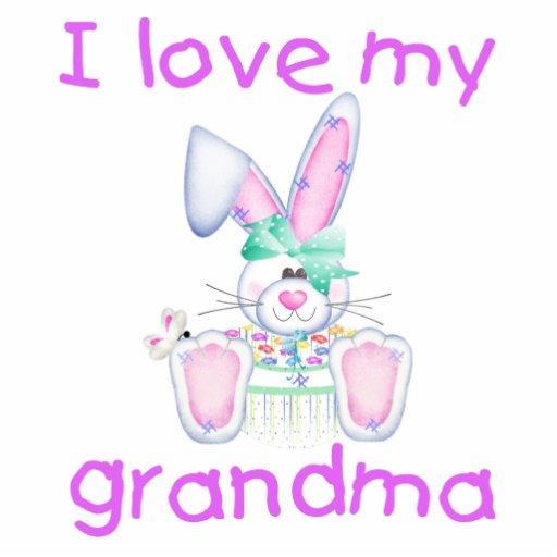 I love my grandma (girl bunny) photo sculptures