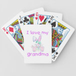 I love my grandma (girl bunny) poker deck