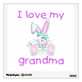 I love my grandma (girl bunny) wall decal