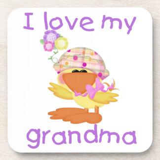 I love my grandma (girl ducky) beverage coaster