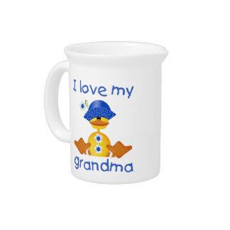I love my grandma (girl ducky) beverage pitchers