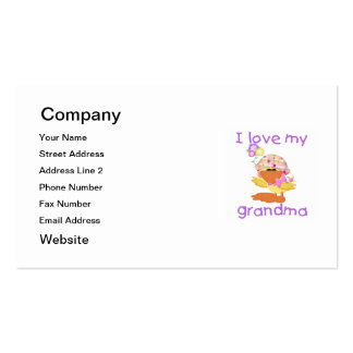 I love my grandma (girl ducky) Double-Sided standard business cards (Pack of 100)