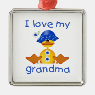 I love my grandma (girl ducky) metal ornament