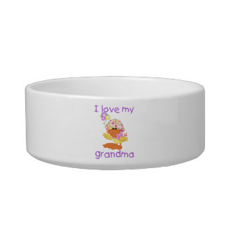 I love my grandma (girl ducky) pet food bowls