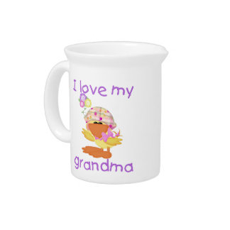 I love my grandma (girl ducky) pitcher