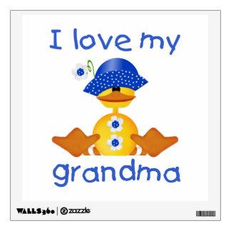 I love my grandma (girl ducky) wall sticker
