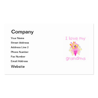 I love my grandma (girl flutterby) Double-Sided standard business cards (Pack of 100)