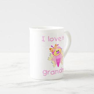 I love my grandma (girl flutterby) tea cup