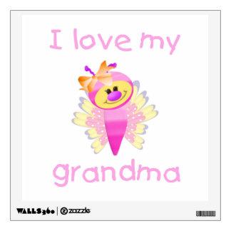 I love my grandma (girl flutterby) wall sticker