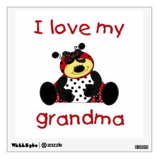 I love my grandma (girl ladybug) wall sticker