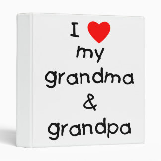 I love my grandma & grandpa 3 ring binder