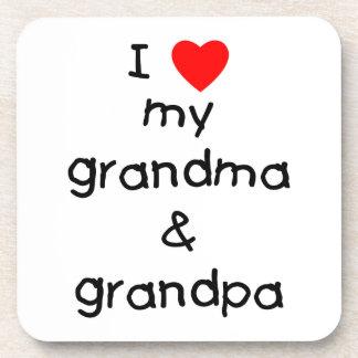 I love my grandma & grandpa coaster