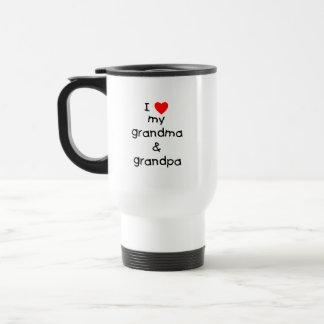 I love my grandma & grandpa 15 oz stainless steel travel mug