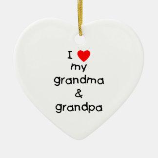 I love my grandma & grandpa ornament