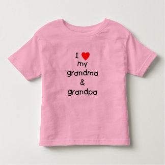 I love my grandma & grandpa toddler t-shirt