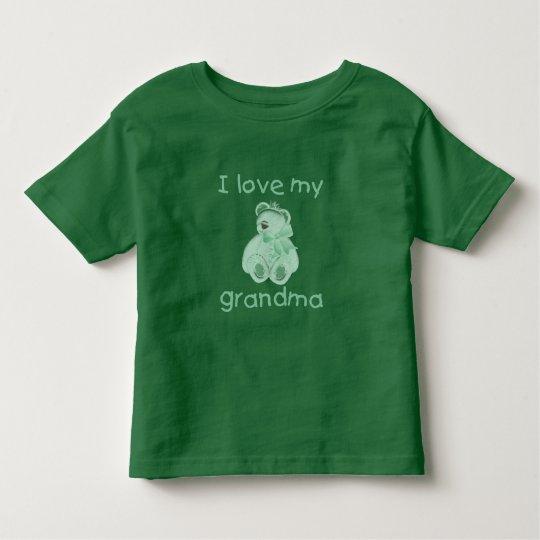 I Love My Grandma (green bear) Toddler T-shirt