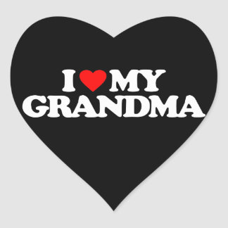 I LOVE MY GRANDMA HEART STICKER
