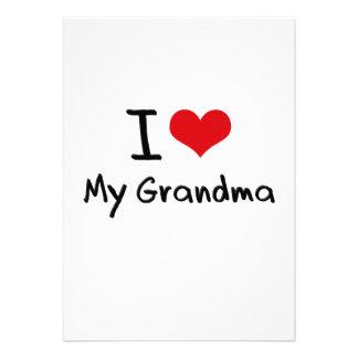 I Love My Grandma Custom Invitation