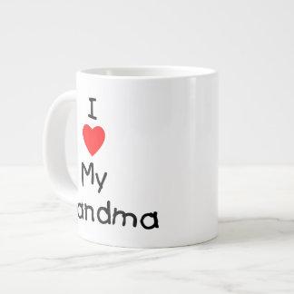 I love my grandma large coffee mug