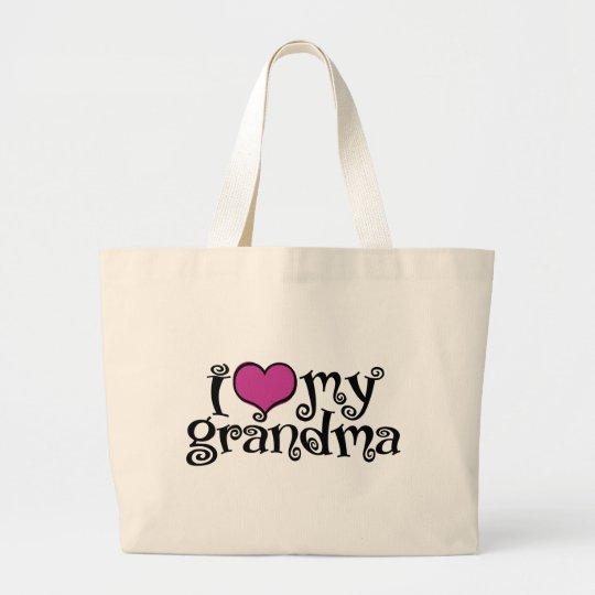 I Love My Grandma Large Tote Bag