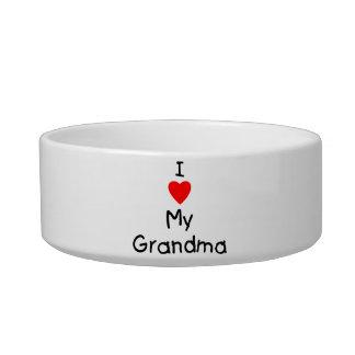 I love my grandma pet food bowl