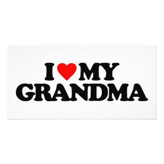 I LOVE MY GRANDMA PICTURE CARD