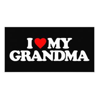 I LOVE MY GRANDMA PHOTO GREETING CARD