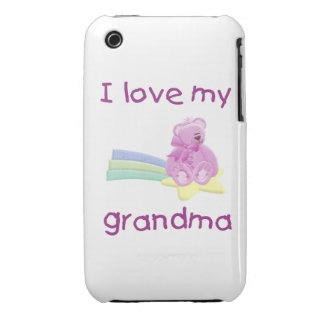 I Love My Grandma (pink bear w/ star) iPhone 3 Cover