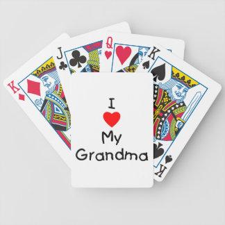 I love my grandma bicycle poker cards